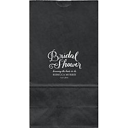 Chalk Bridal Shower Large Custom Favor Bags