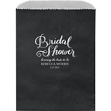 Chalk Bridal Shower Custom Wax Lined Bags