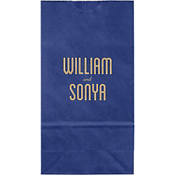 Inline Names Small Custom Favor Bags