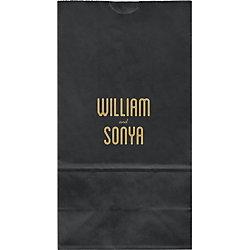Inline Names Large Custom Favor Bags