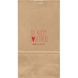 So Happy Together Large Custom Favor Bags