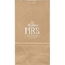 The Future Mrs. Large Custom Favor Bags