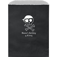 Ahoy Pirate Custom Wax Lined Bags