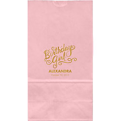Birthday Girl Large Custom Favor Bags