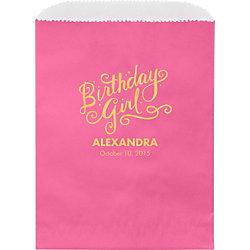 Birthday Girl Custom Wax Lined Bags