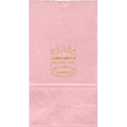 Princess Crown Large Custom Favor Bags