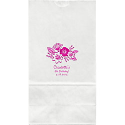 Floral Large Custom Favor Bags