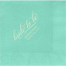 Bride To Be Custom Lunch Napkins
