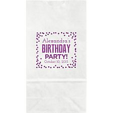 Birthday Party Confetti Small Custom Favor Bags