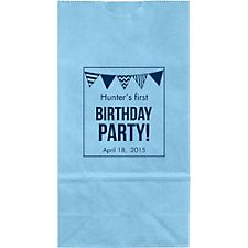 Birthday Party Flags Small Custom Favor Bags