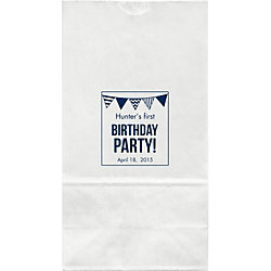 Birthday Party Flags Large Custom Favor Bags