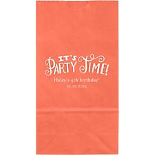 It's Party Time Small Custom Favor Bags