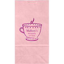 Teacup Small Custom Favor Bags