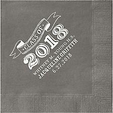 Big Year Chalk Graduation Custom Cocktail Napkins