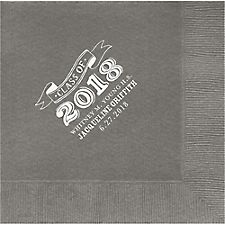 Big Year Chalk Graduation Custom Lunch Napkins