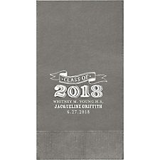 Big Year Chalk Graduation Custom Guest Napkins