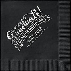 Congrats Graduate Custom Cocktail Napkins