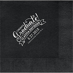 Congrats Graduate Custom Lunch Napkins