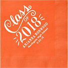 Chalk Script Graduation Custom Cocktail Napkins