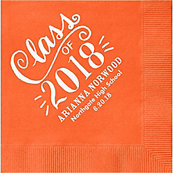 Chalk Script Graduation Custom Cocktail Napkins - Set of 50