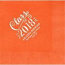 Chalk Script Graduation Custom Lunch Napkins
