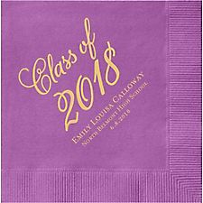 Flourish Script Graduation Custom Cocktail Napkins