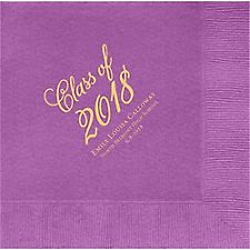 Flourish Script Graduation Custom Lunch Napkins