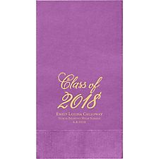 Flourish Script Graduation Custom Guest Napkins