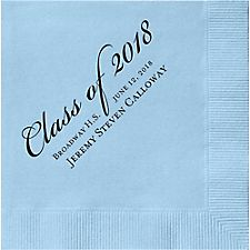 Graduation Script Custom Cocktail Napkins