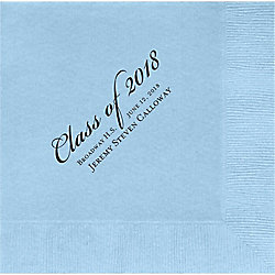 Graduation Script Custom Lunch Napkins