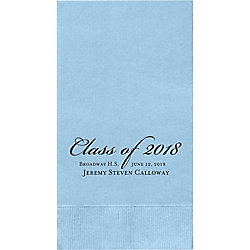 Graduation Script Custom Guest Napkins