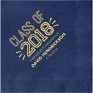 Graduation Inline Custom Cocktail Napkins
