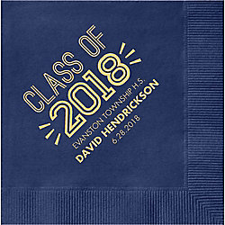 Graduation Inline Custom Cocktail Napkins