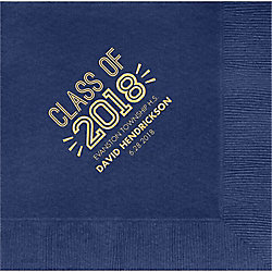 Graduation Inline Custom Lunch Napkins