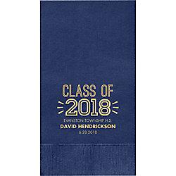 Graduation Inline Custom Guest Napkins