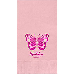 Butterfly Custom Guest Napkins