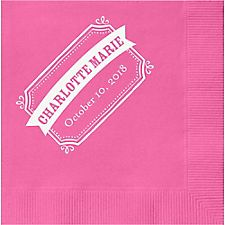 Chalk Border Banner Custom Cocktail Napkins