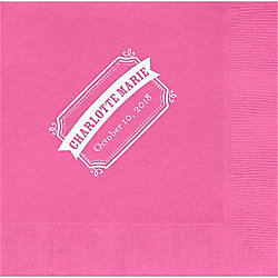 Chalk Border Banner Custom Lunch Napkins