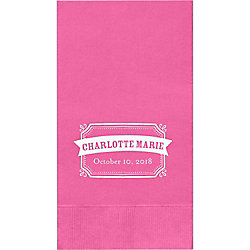 Chalk Border Banner Custom Guest Napkins