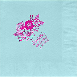 Floral Custom Lunch Napkins
