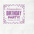 Birthday Party Confetti Custom Cocktail Napkins