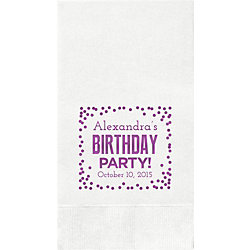 Birthday Party Confetti Custom Guest Napkins