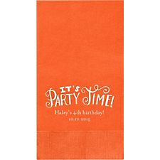 It's Party Time Custom Guest Napkins