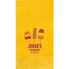 Popsicles Custom Guest Napkins
