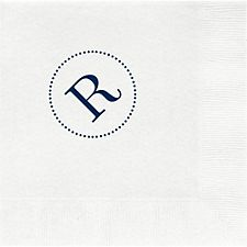 Dotted Circle Monogram Custom Lunch Napkins