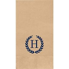 Laurel Monogram Custom Guest Napkins