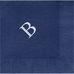 Times Single Letter Monogram Custom Lunch Napkins