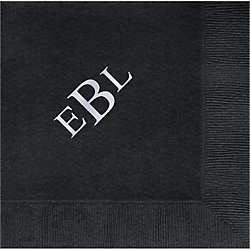 Times Three Letter Monogram Custom Lunch Napkins