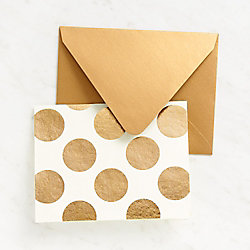 Gold Dots on Ivory Stationery