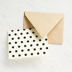 Small Black Dots Stationery